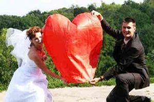 Сердце  красное