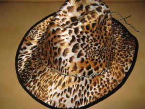 Шляпа ковбоя леопардовая