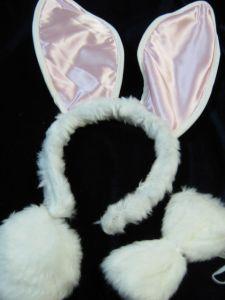 Уши кролика с хвостиком мех.