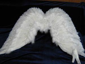 Крылья перьевые белые 80 x 60 см