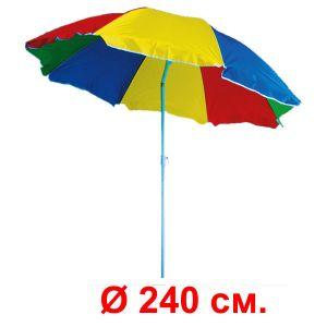 Зонт «Арбуз» с регулируемым наклоном  (диаметр 240 см.)