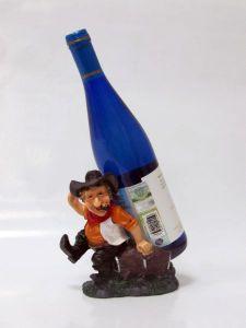 Подставка для вина «Ковбой сидит»