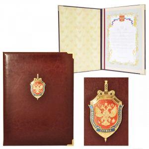 Представительская папка с гербом ФСБ