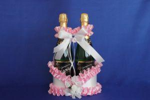 Корзинка д/шампанского розовая