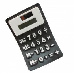 Калькулятор  черный (можно гнуть, сворачивать трубочкой)