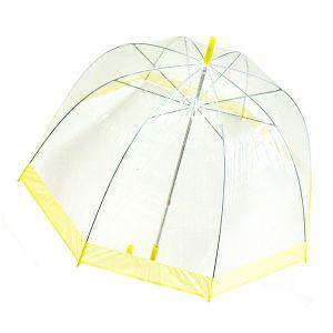 Зонт прозрачный (купол желтый)