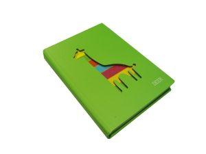 Блокнот с вырезанным Жирафом зеленый