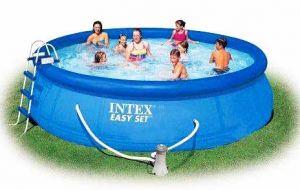 Надувной бассейн  457х107см + аксессуары, INTEX