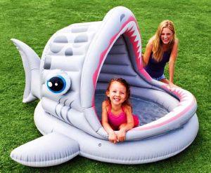"""Надувной бассейн """"Ленивая акула"""", INTEX"""
