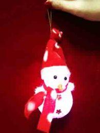 Снеговик светящийся (9 см)