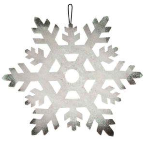 Пенопластовая снежинка серебряная, Ø 23 см.