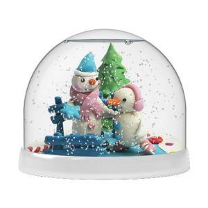 Создай Волшебный шар со снегом Снеговики