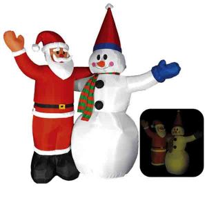 Надувная фигура «Дед Мороз и Снеговик»