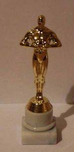 Оскар на гранитной круглой подставке (20см)