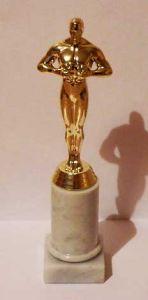 Оскар на гранитной круглой подставке (25см)