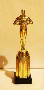 Оскар на золотой подставке (25 см.)