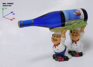 Подставка для вина «Два повара, бутылка над головой»