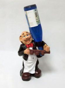 Подставка для вина «Официант, бутылка, штопор»