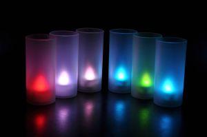 LED-свеча  мигающая в матовом стаканчике