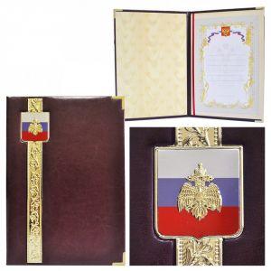 Представительская папка «Эксклюзив» с гербом МЧС