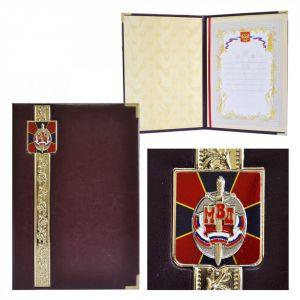 Представительская папка «Эксклюзив» с гербом МВД