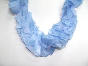 Лента на капот Спираль (голубая)