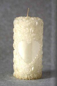 Свеча декоративная №3 (бежевый)