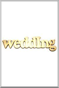 Слова для фотосессий Wedding (некрашенное) (Ш:15 Д:73)