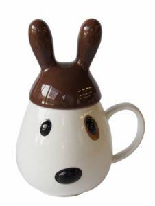 """Кружка """"Кролик"""" с коричневой крышкой"""
