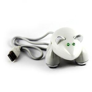 Разветвитель HUB Мышь (белая)