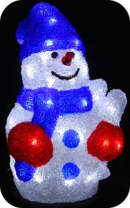 "Фигура ""Снеговик в шапочке"", 30см"