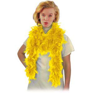 Боа из перьев, жёлтое, длина 180 см.