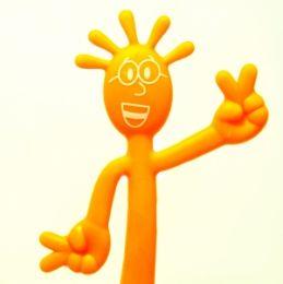 Ручка Человечек оранжевая