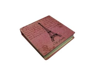 Блокнот розовый Эйфелева башня (8*8см)