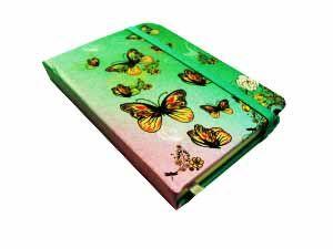 Блокнот Бабочки (10,5*7,5, голубой)