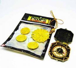 Набор пиратский  (монеты, компас и талисман)