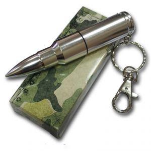 Флешка Патрон АК-47 цвет серебро в коробке