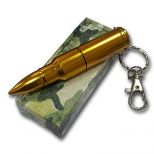 Флешка Патрон АК-47 цвет золото в коробке