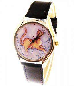 Прикольные наручные часы Кошечка