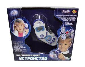 Набор шпиона: подслушивающий телефон с наушниками, в наборе с лупой и компасом