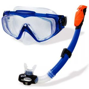 Набор маска с трубкой синяя