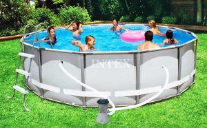 Каркасный бассейн 427х107см + аксессуары, INTEX