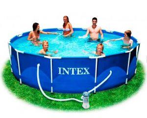 Каркасный бассейн 366х99см + аксессуары, INTEX