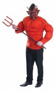 Костюм Дьявола с мышцами