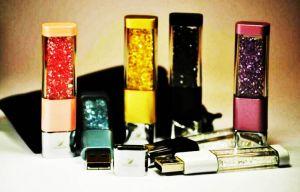 Флешка Брелок с кристаллами SWAROVSKI цвет золото