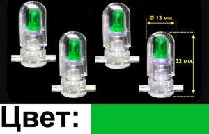 Катушка с зелеными светодиодами (30м.)