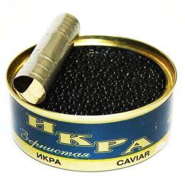 Икра чёрная в баночках (магнит)