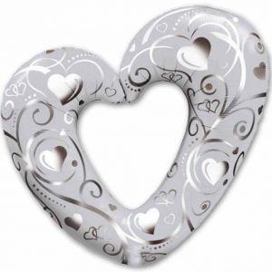 Шар-фигура Сердце Вензель (76 см)