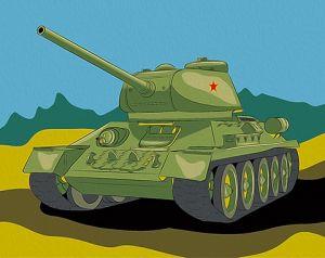 Картина по номерам Танк Т-34