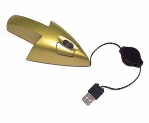 Мышь для ПК в виде Стрелки золотая